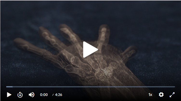fossil primate hand skeleton