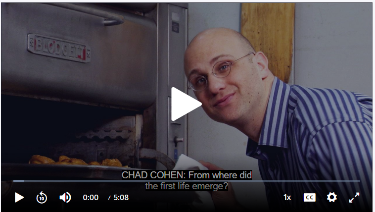 Chad Cohen in Front of an Industrial Oven