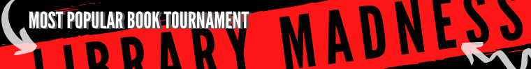 """Red and black banner for """"Library Madnesss"""""""
