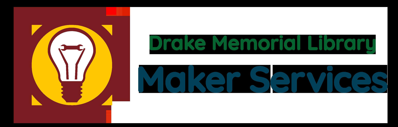 Drake Memorial Library Maker Services Logo