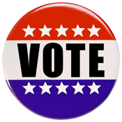 Vote pinback button