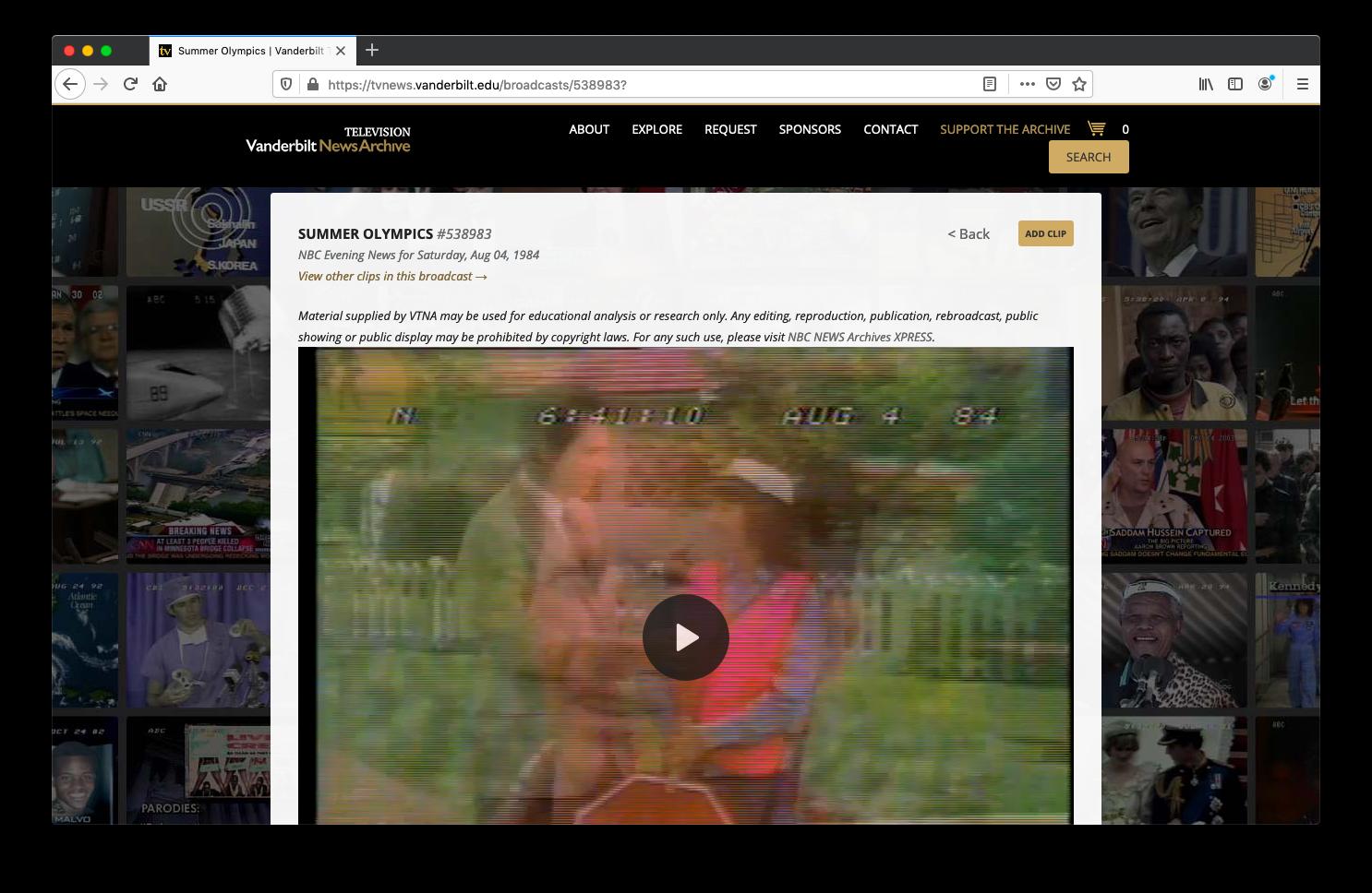 A news clip screenshot