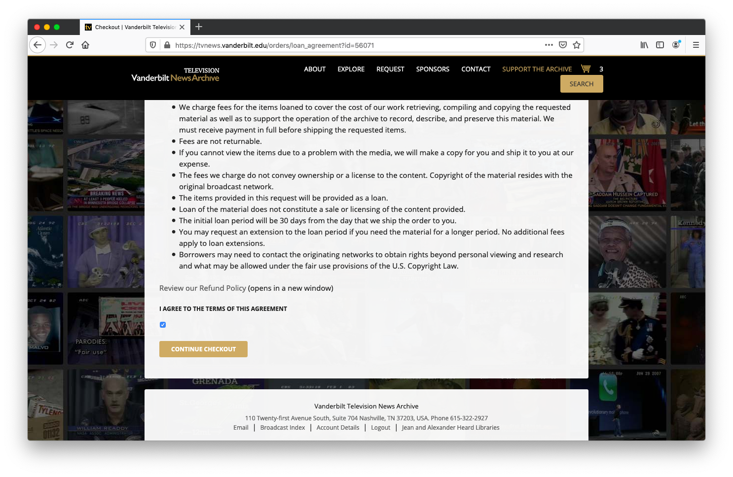 screenshot of the bottom of the agreement.