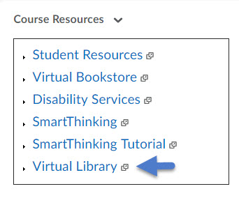 Course Resources Virtual Library