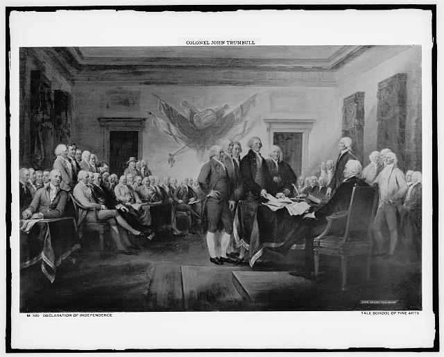 Declaration of Independence. Trumbull, John