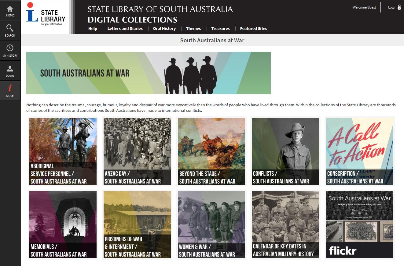 South Australians at War website