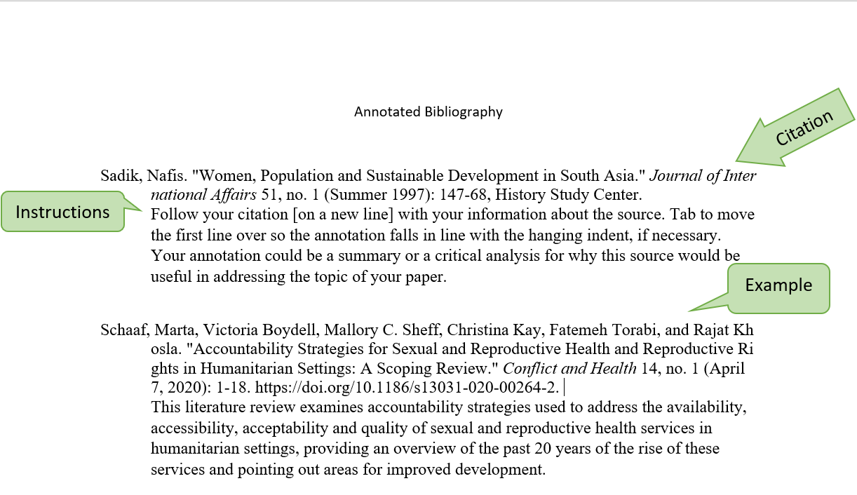 Example of Annotated Bibliography Using Chicago Style