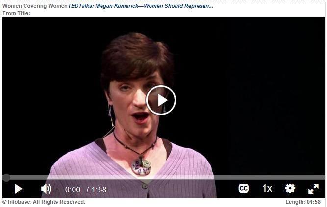 TEDTalks: Megan Kamerick - Women Should Represent Women in Media