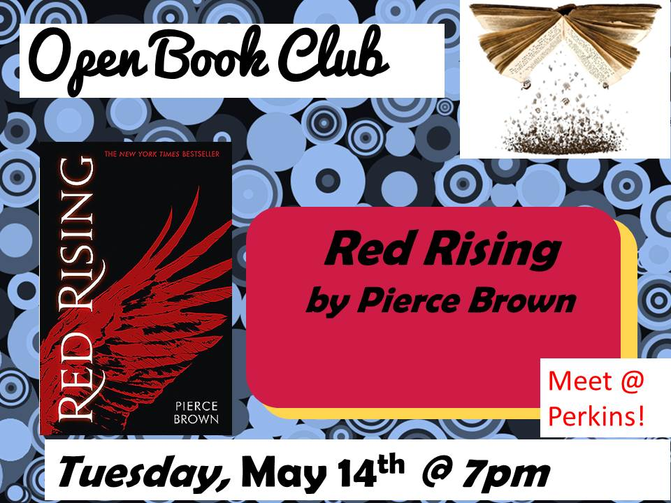 Open Book Club May 21 Red Rising Pierce Brown