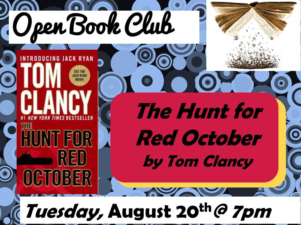 Open Book Club August 20 Hunt for Red October Tom Clancy