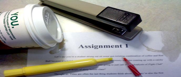 Photo of a homework assignment.