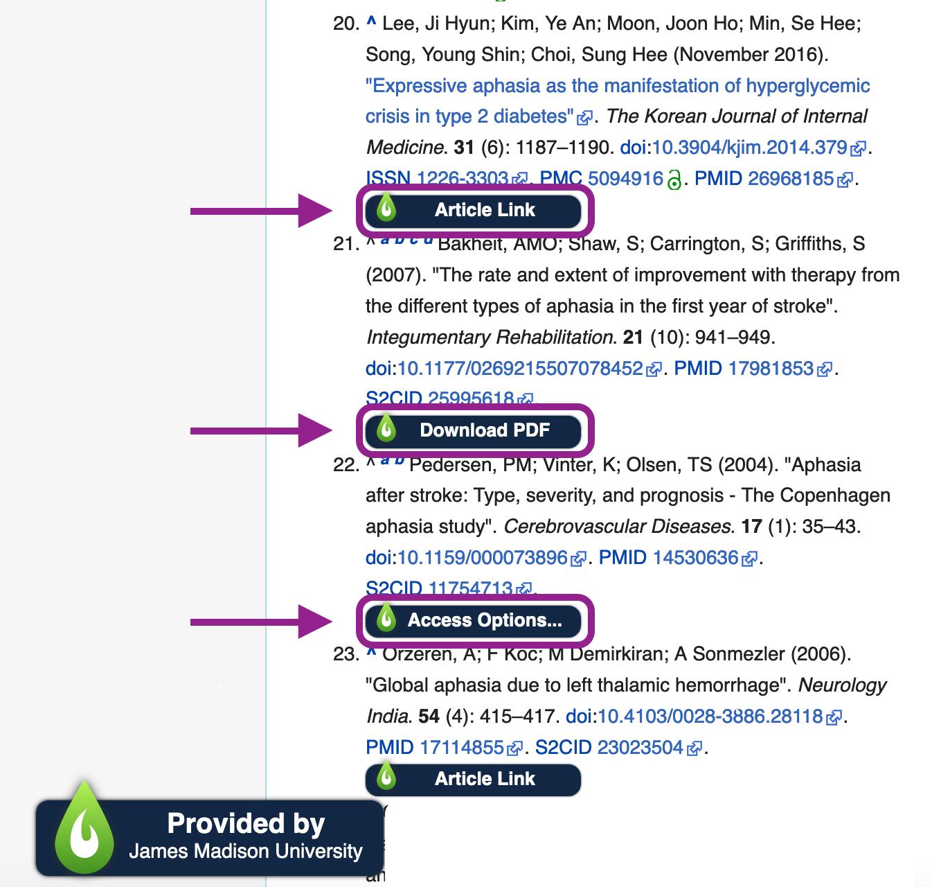Wikipedia LibKey integration example
