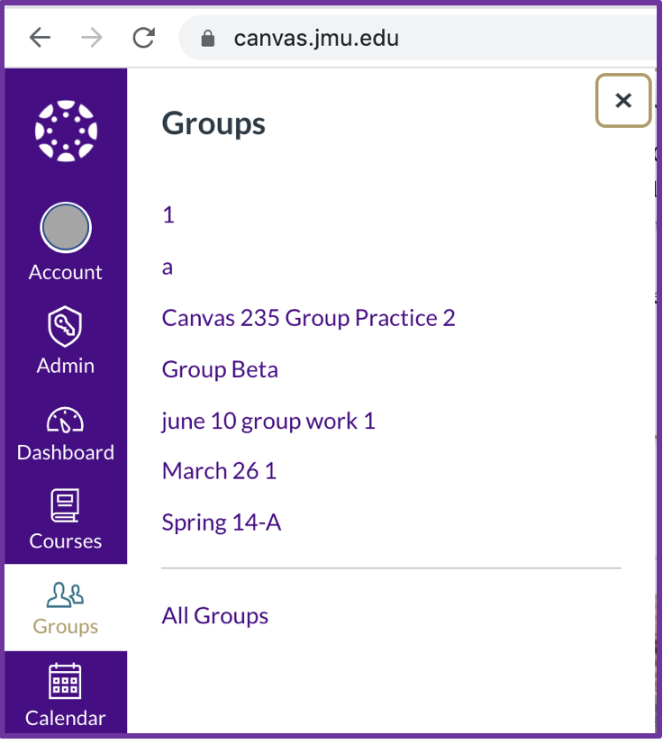 canvas.jmu.edu groups