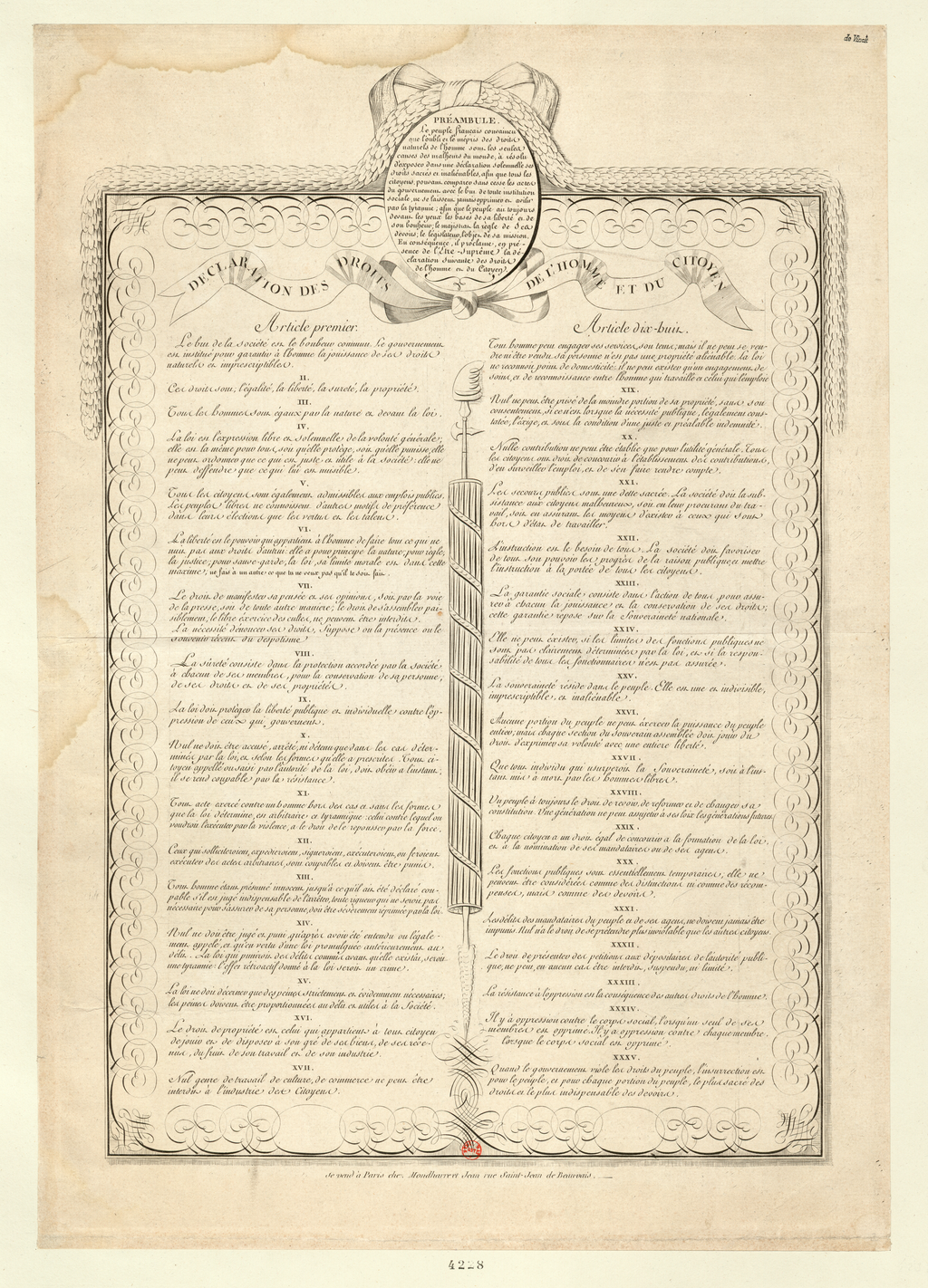 Declaration of the Rights of Man and of the Citizen Adopted by the National Assembly during its Sessions on August 20, 21, 25 and 26, 1789, and Approved by the King