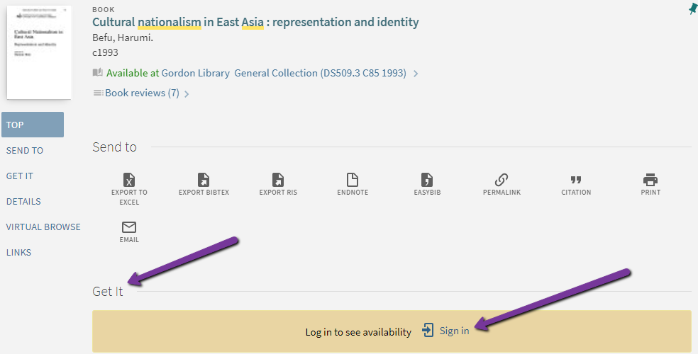 Screenshot of logging in to WPI Library Search