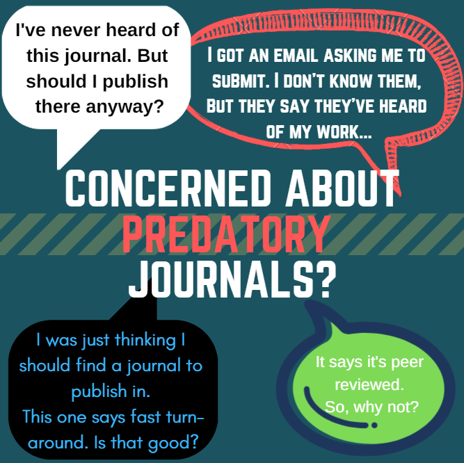 Visualization of common questions asked about predatory journals