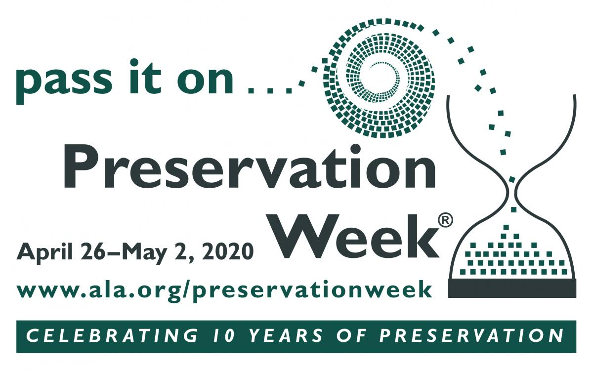 Preservation Week 2020 Logo
