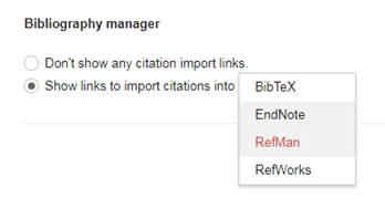 Import citations to EndNote
