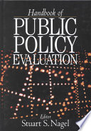 Cover image of Handbook fo Public Policy Evaluation