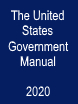 Cover of The United States Government Manual, 2020
