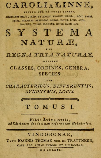 Systema naturae per regna tria naturae