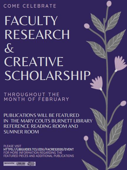 Poster for the Faculty Research & Creative Scholarship 2020