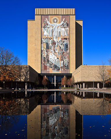 Hesburgh Library, as viewed from the south
