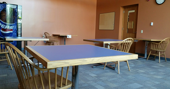 Student Lounge 2nd floor for eating only
