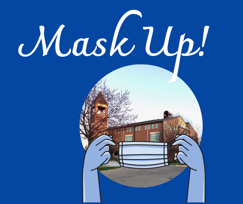 Mask up at SAU Library
