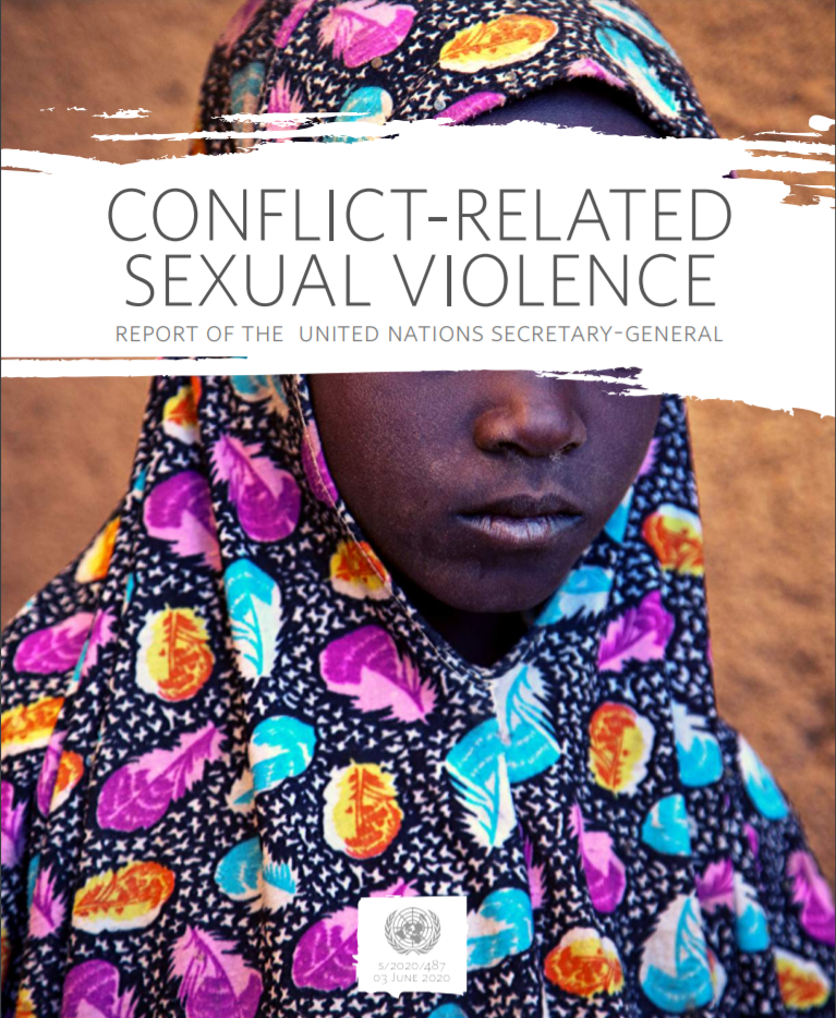 Cover of the Conflict-Related Sexual Violence Report of the United Nations Secretary-General