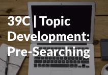 Topic development tutorial start icon
