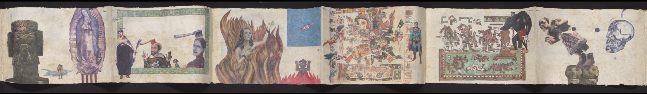 Segment of Tales from the Conquest/Codex by Enrique Chagoya