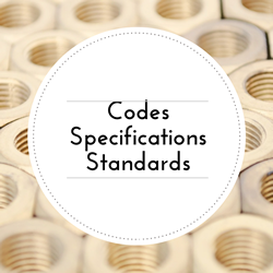 Go to Codes, Specifications, and Standards page.