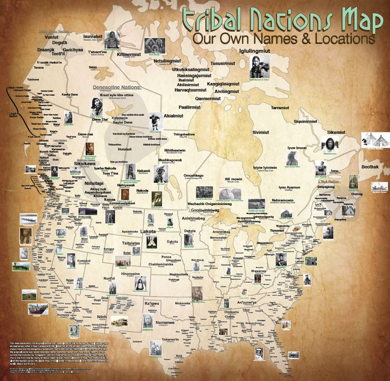 Tribal Nations Map by  Aaron Carapella