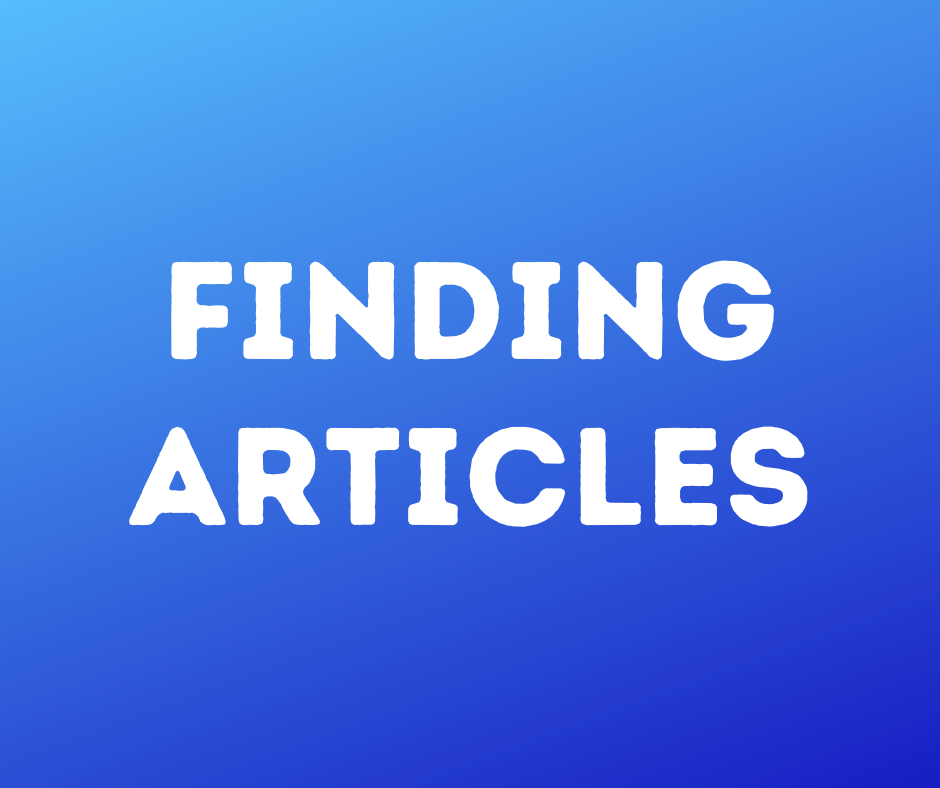 Finding articles click here