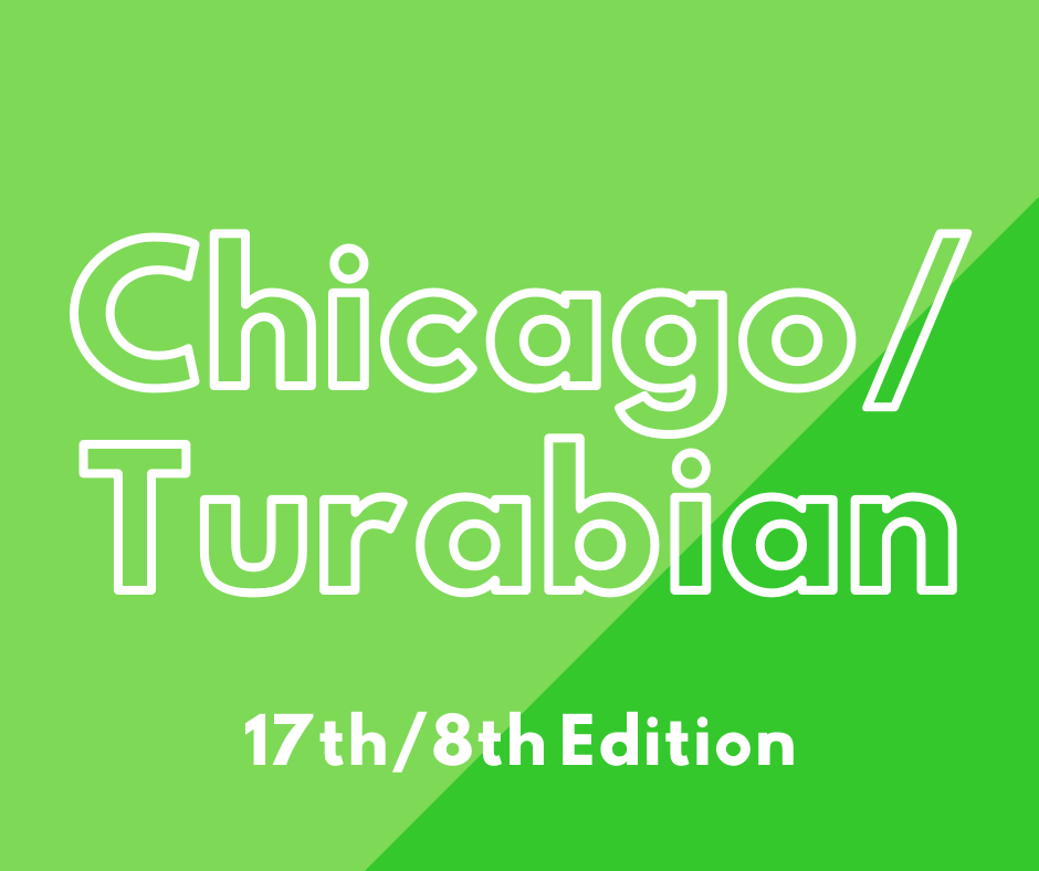 Chicago/Turabian click here