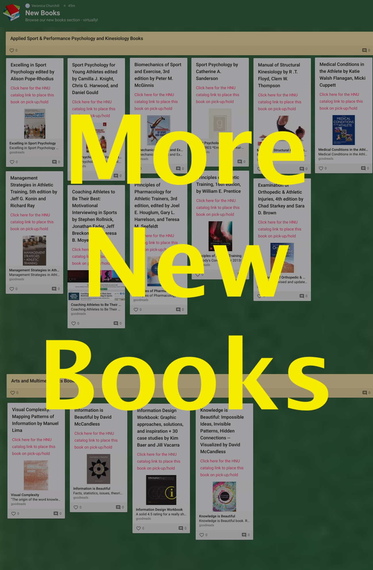 Padlet page of new titles