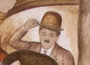 Charlie Chaplin, Mural, Knight Library