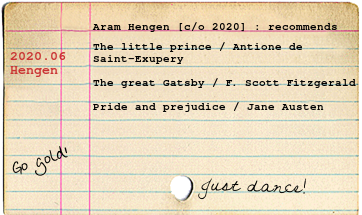 Aram's list of favorite books