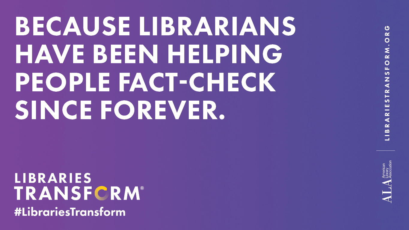 because librarians help fact check