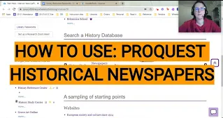 Link to Historical Newspapers video