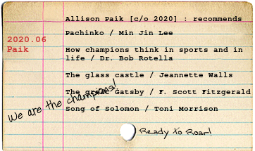 Paik's list of favorite books