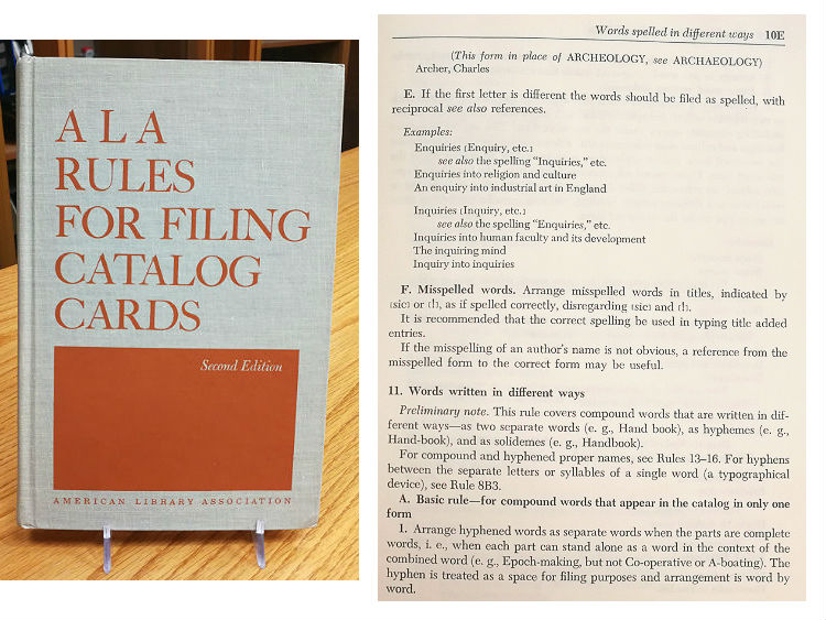 ALA Rules of Filing Catalog Cards