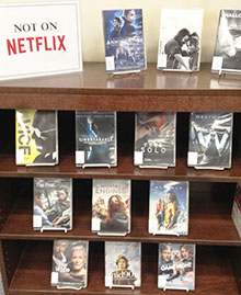 dvd display not on netflix