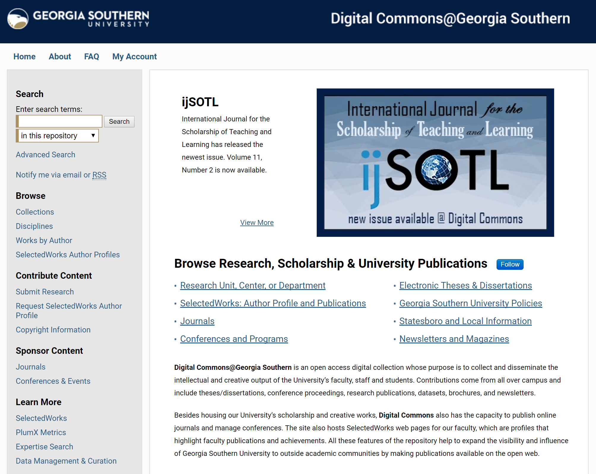 Digital Commons Homepage