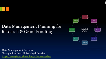 Data Management Tutorial: Data Management Planning for Grant Funding
