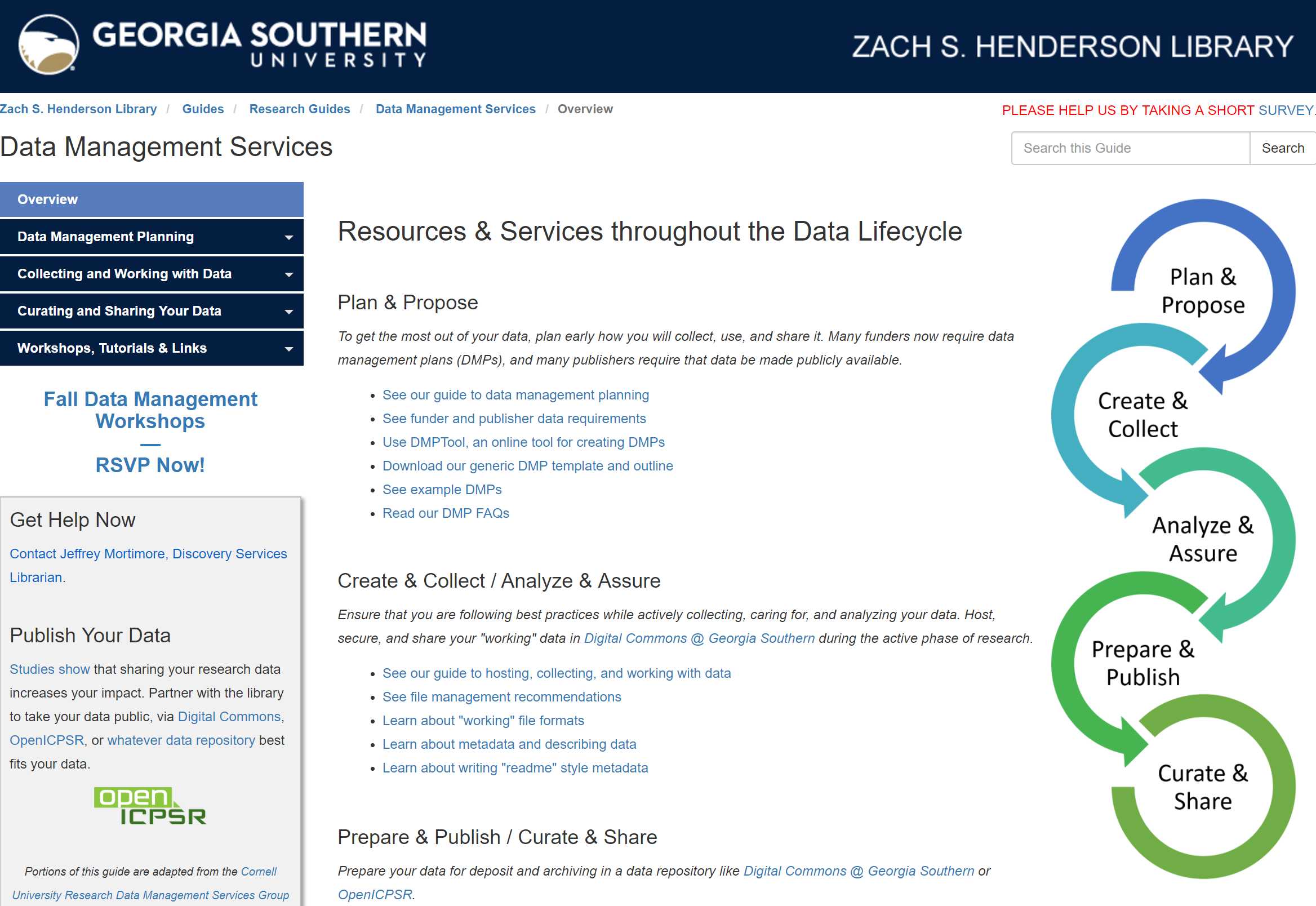 Data Management Services Homepage