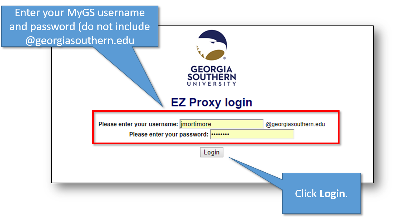 EZProxy Login