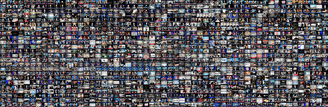 images of many tiny tv screens