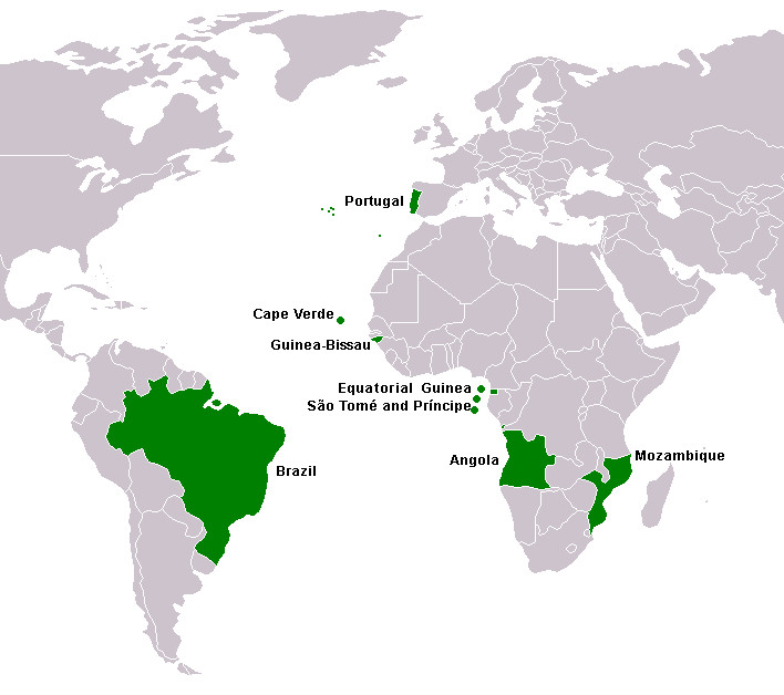 Map of the Lusophone World